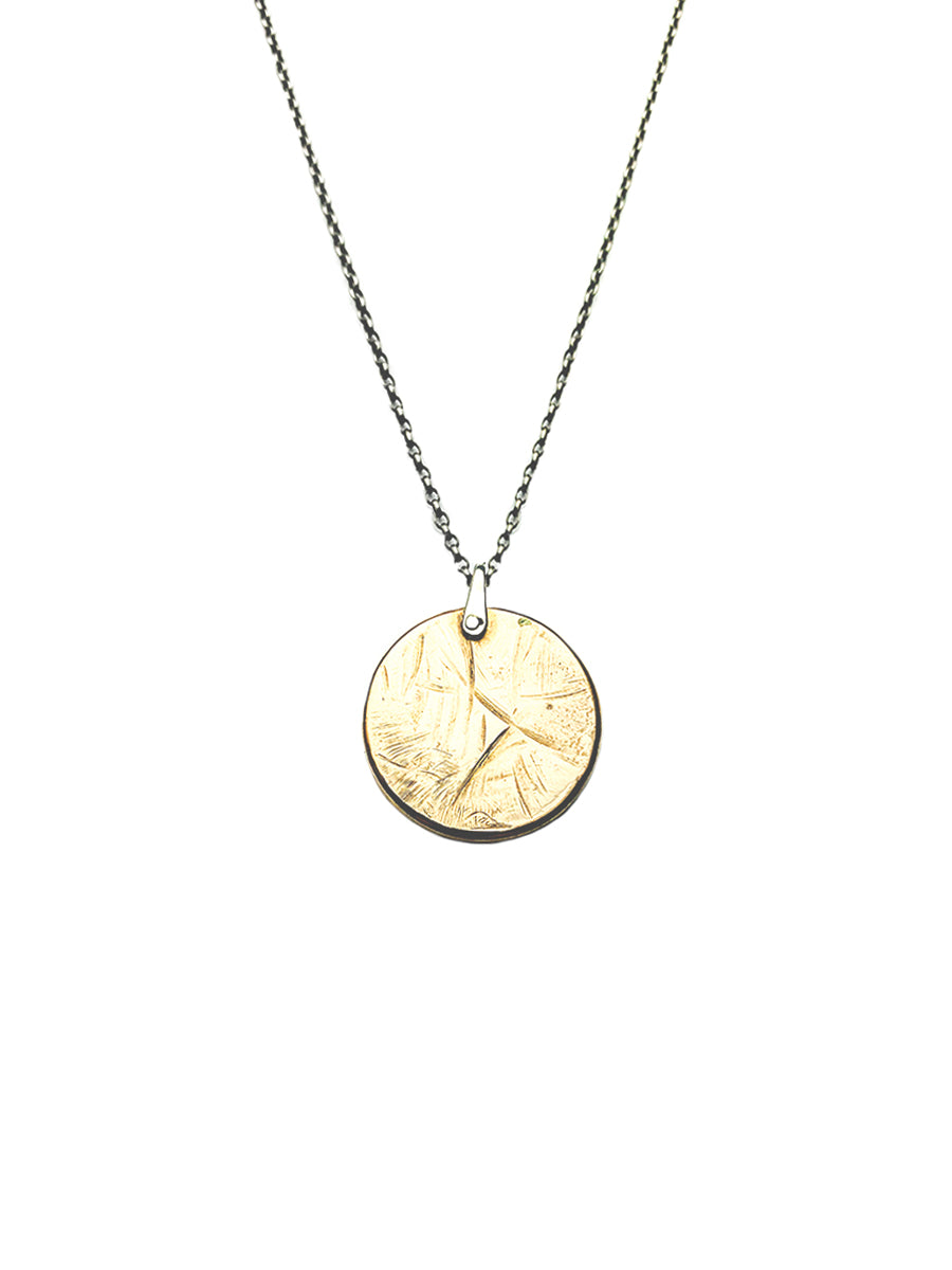 Bronze Sculpture Medallion Necklace