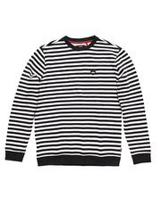 Heart Stripes Fleece - Dirty Black