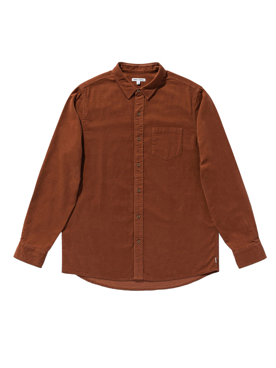 Roy Long Sleeve Shirt - Baked Clay