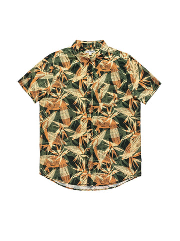 Void Short Sleeve Shirt - Deep Forest
