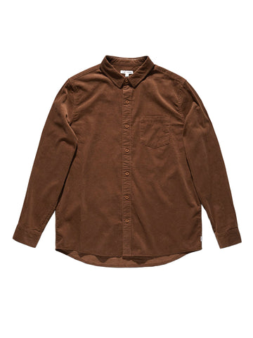 Roy Long Sleeve Shirt - Carob