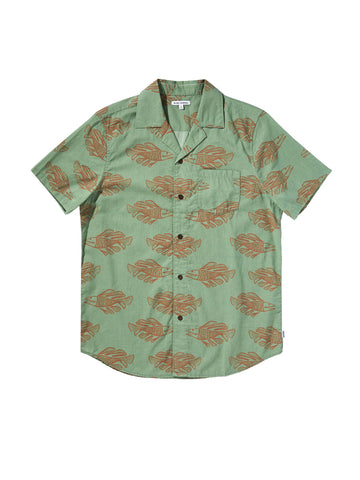 Scales Short Sleeve Shirt - Basil
