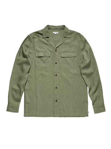 Unplug Long Sleeve Woven - Green Army