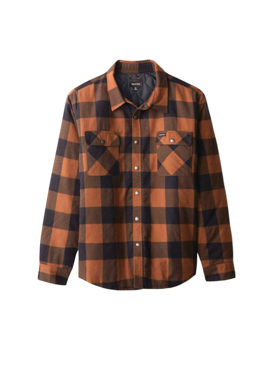 Bowery Lined Long Sleeve Flannel - Navy & Copper