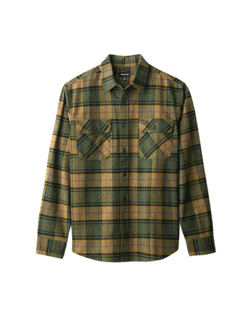 Bowery Long Sleeve Flannel - Evergreen