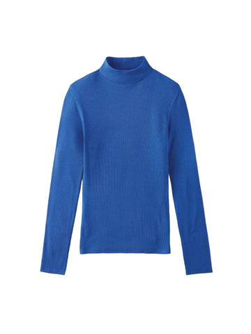 Blitz Long Sleeve Turtleneck - Dazzling Blue