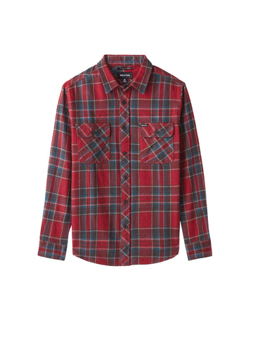 Bowery Long Sleeve Flannel - Burgundy