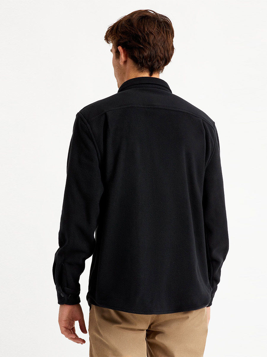Bowery Men's Long Sleeve Arctic Stretch Fleece - Black