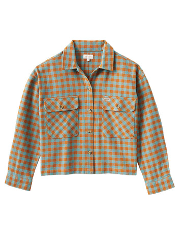 Bowery Women's Long Sleeve Flannel - Ocean