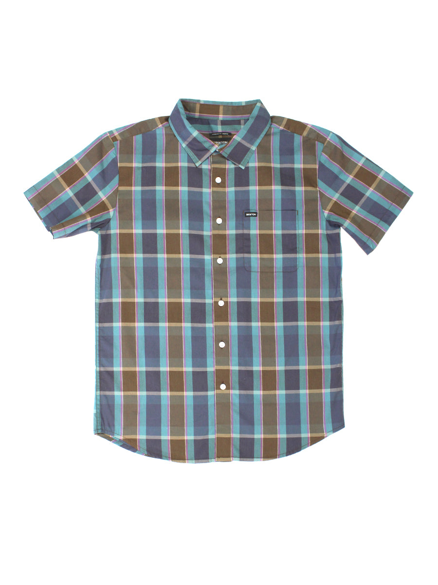 Charter Plaid Short Sleeve Shirt - Toffee