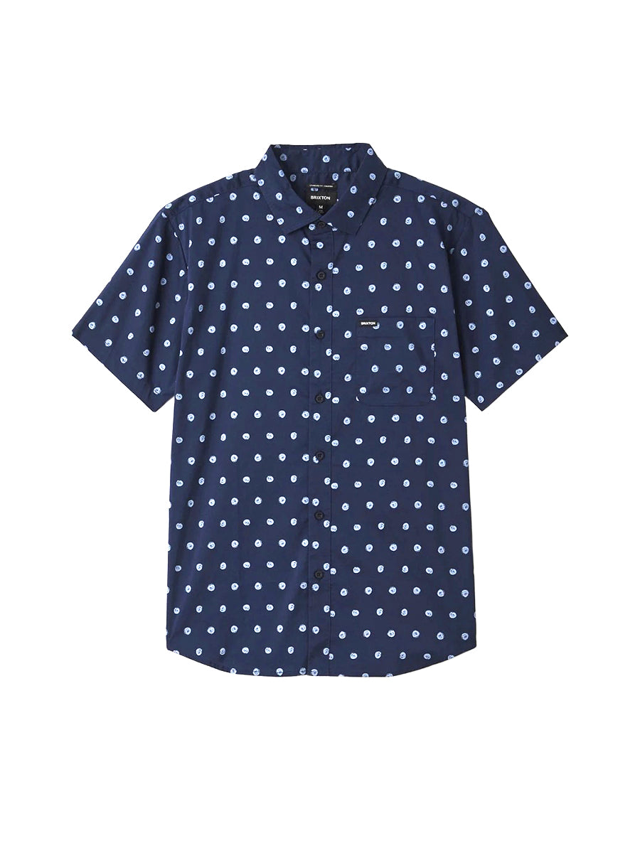 Charter Print Short Sleeve Woven - Navy & Blue Fog