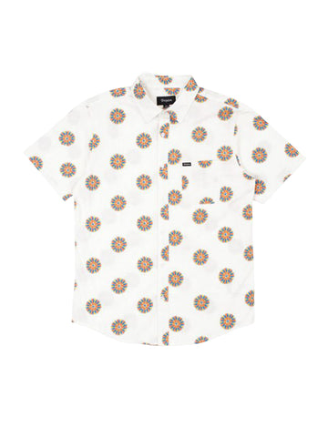 Charter Print Short Sleeve Woven - Off White & Autumn