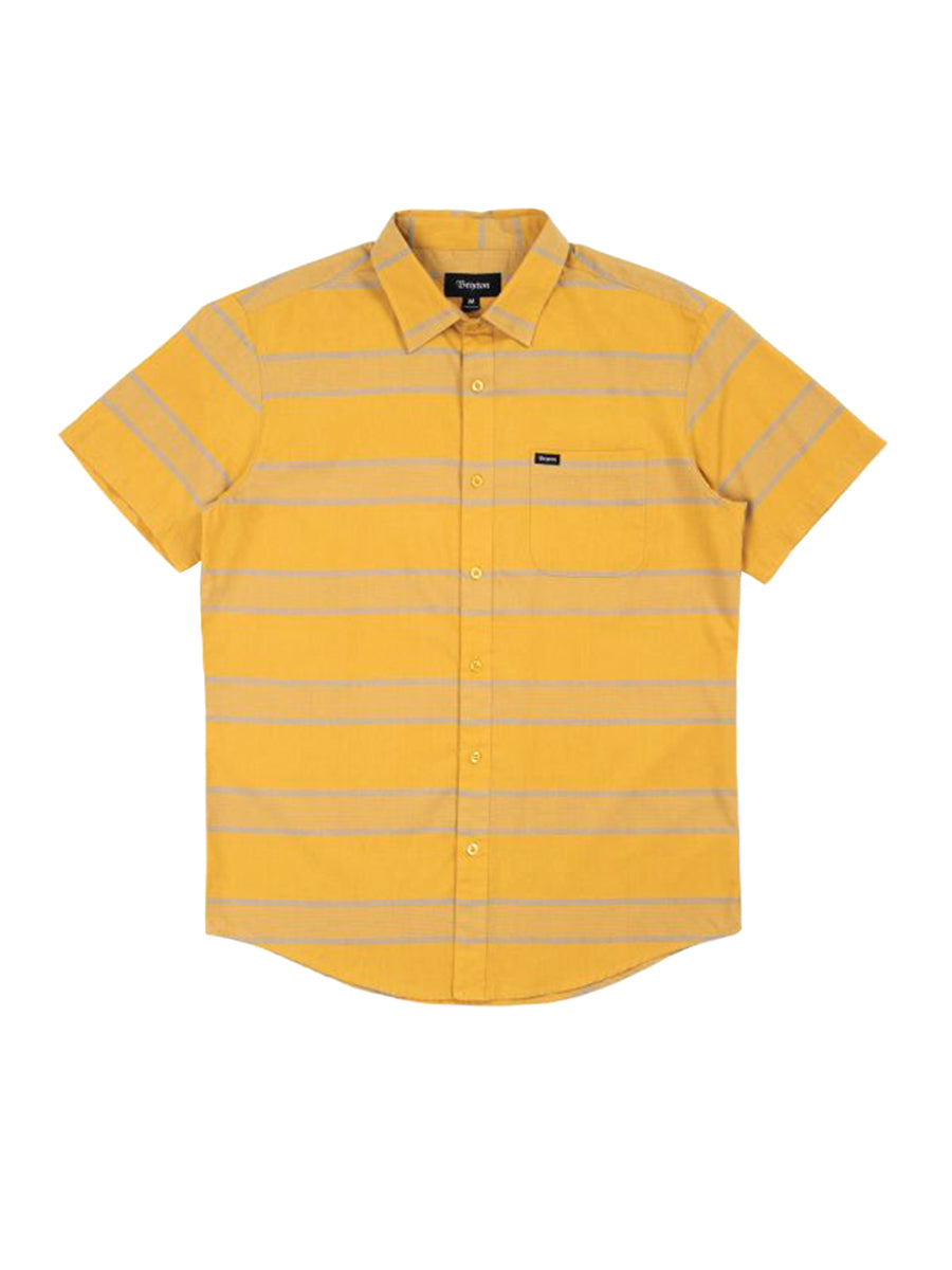 Charter Stripe Short Sleeve Woven - Honey