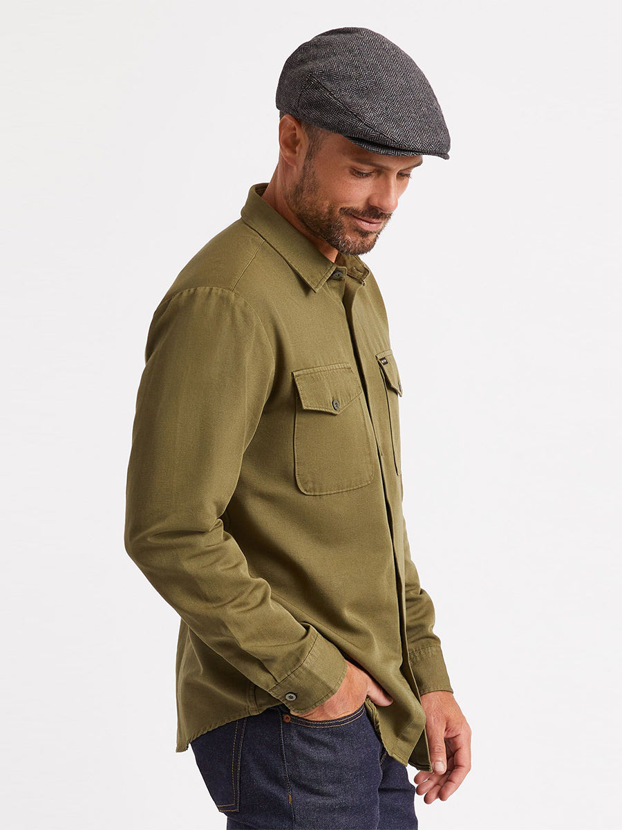 Davis Long Sleeve Reserve Woven - Military Olive