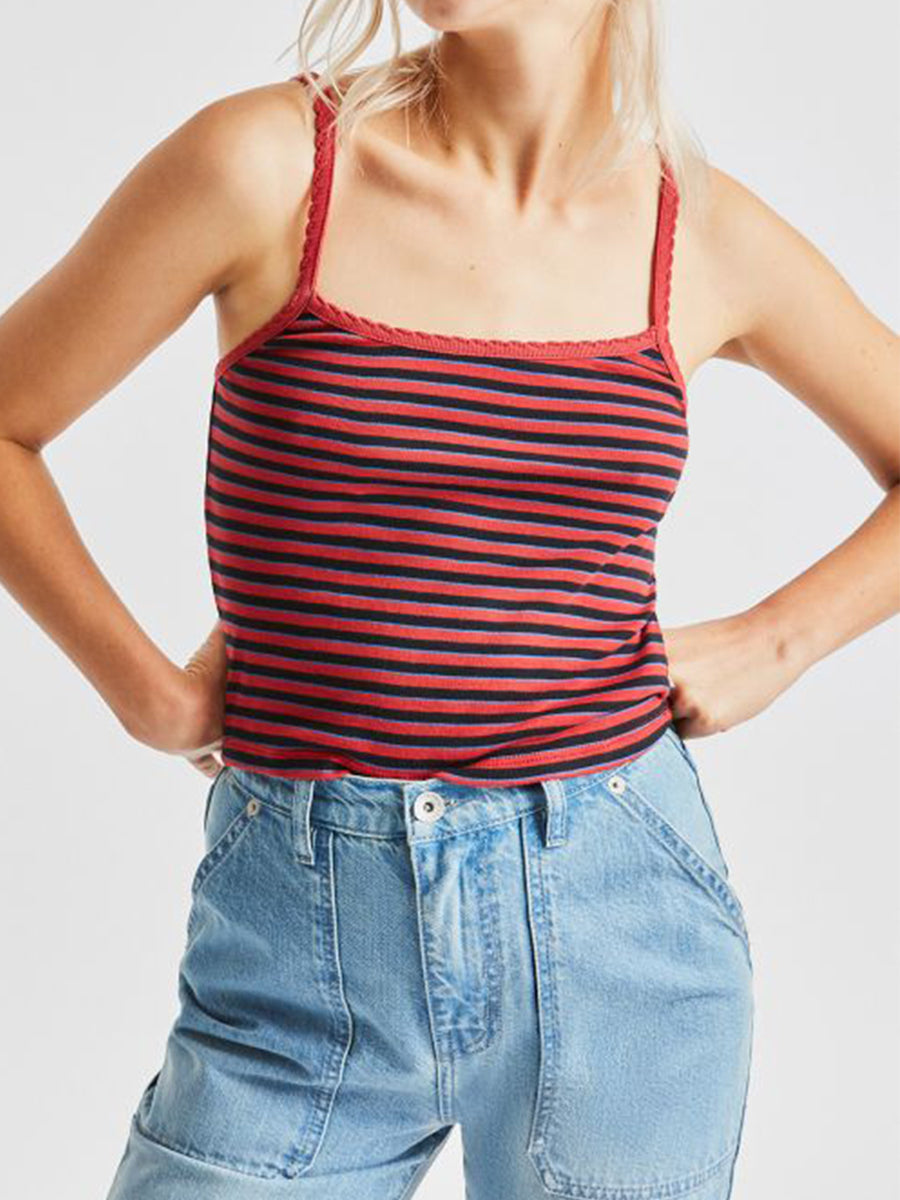 Hilary Tank Top - Lava Red