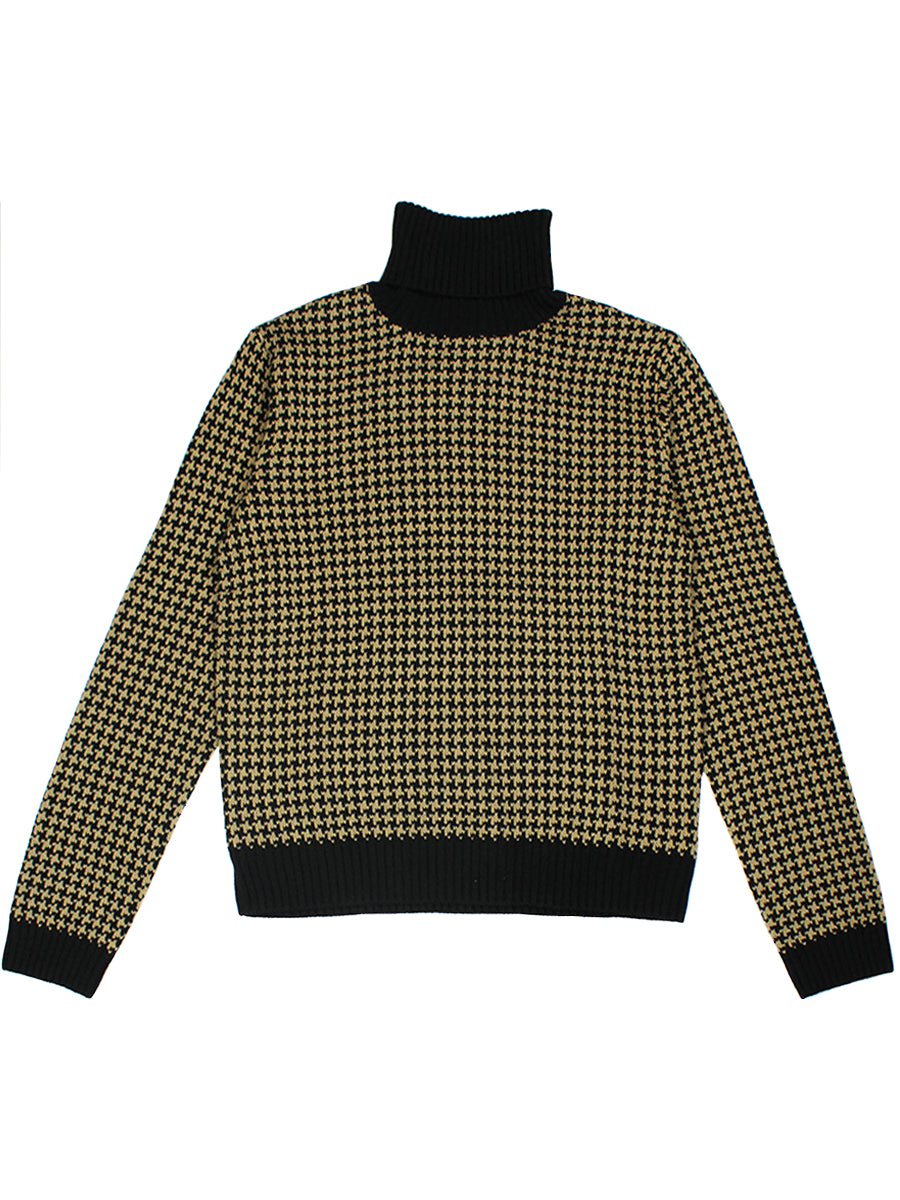 Joni Sweater - Khaki Houndstooth