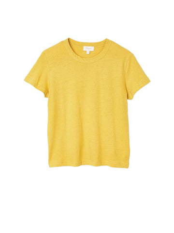 Karlie Baby Tee - Sunset Yellow