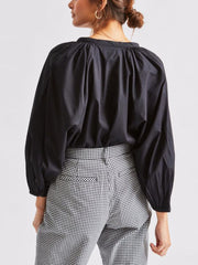 Rosewood 3/4 Sleeve Top - Black