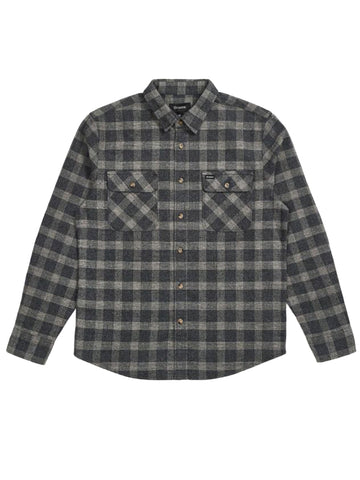 Bowery Long Sleeve Flannel - Black & Heather Grey