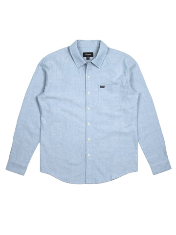 Charter Oxford Long Sleeve Woven - Light Blue Chambray