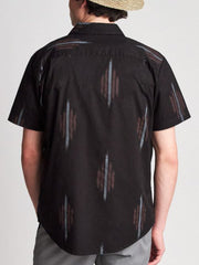 Charter Print Short Sleeve Woven - Black & Red