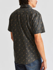 Charter Print Short Sleeve Woven - Washed Black & Copper