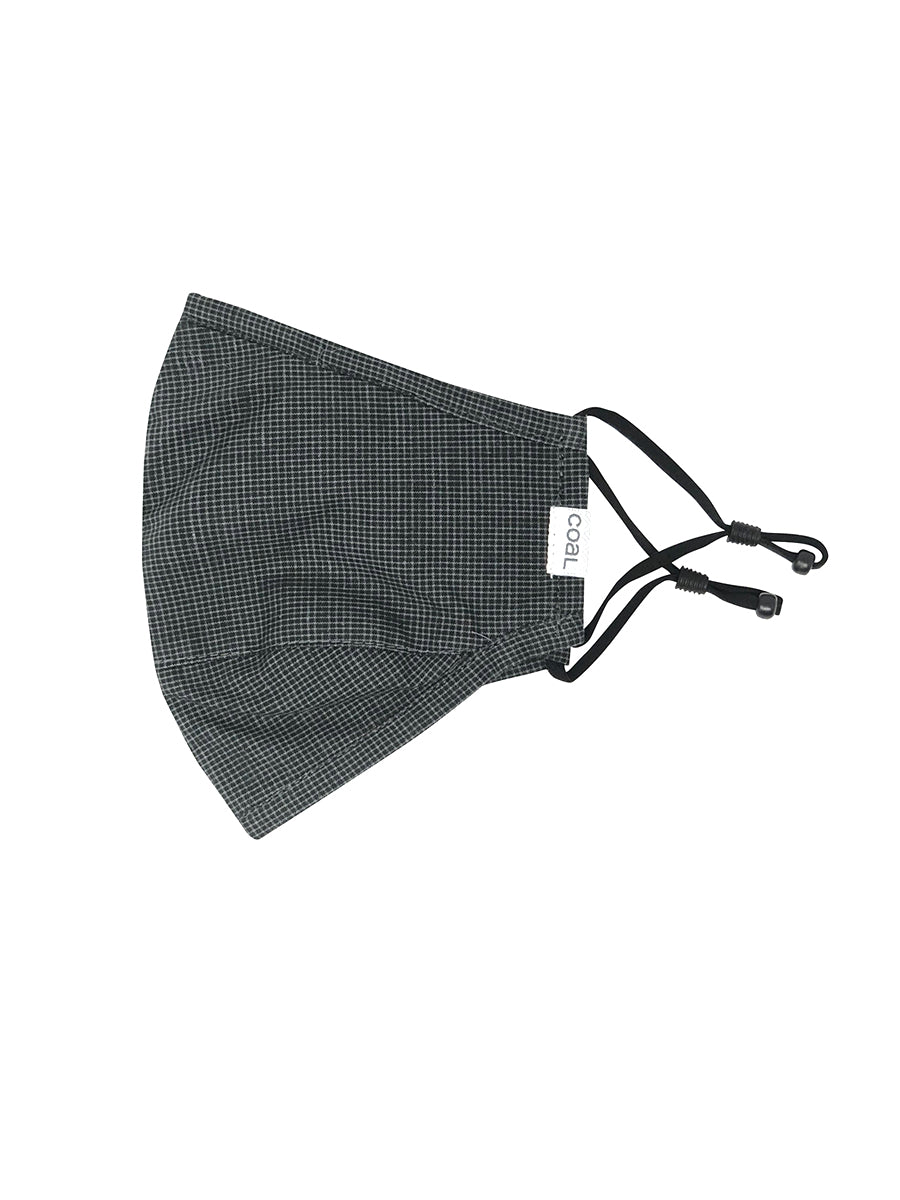 The Ergo Face Mask - Charcoal Gingham