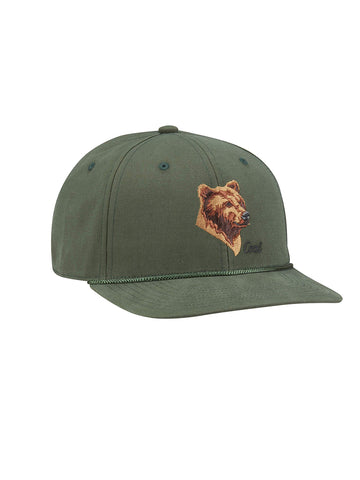 Wilderness Hat - Forest Green Bear