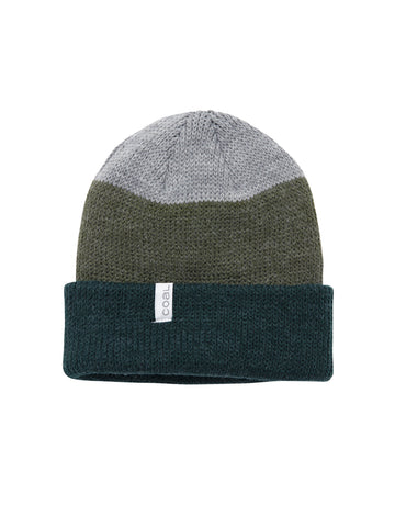 Frena Beanie - Forest Green Stripe