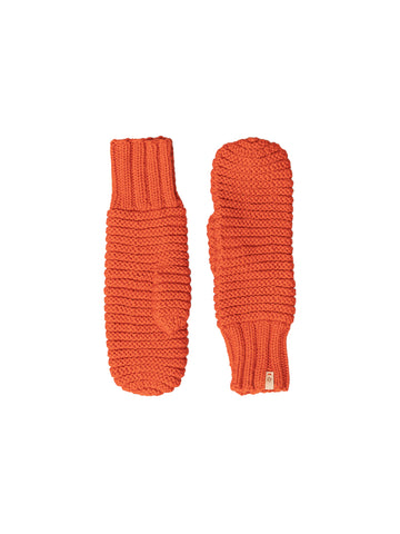Merino Reverse Mittens - Burnt Orange