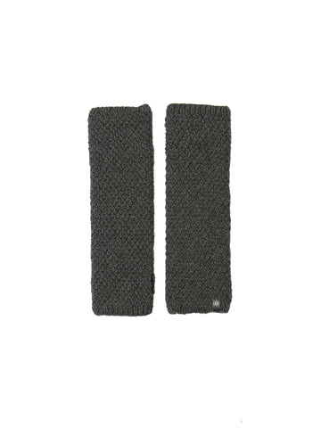 Merino Moss Half Mitts - Charcoal Grey