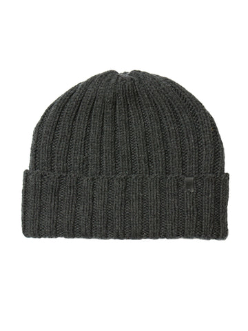 Merino Thick Rib Hat - Charcoal Grey