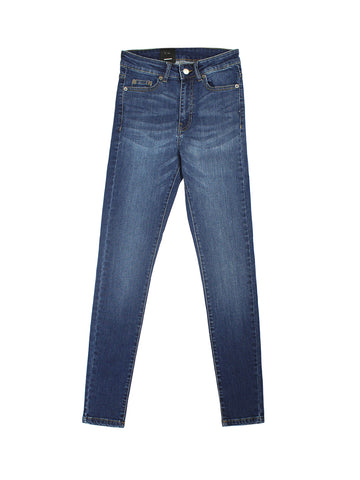 Erin High-Waisted Skinny Jeans - Dark Hurricane Blue