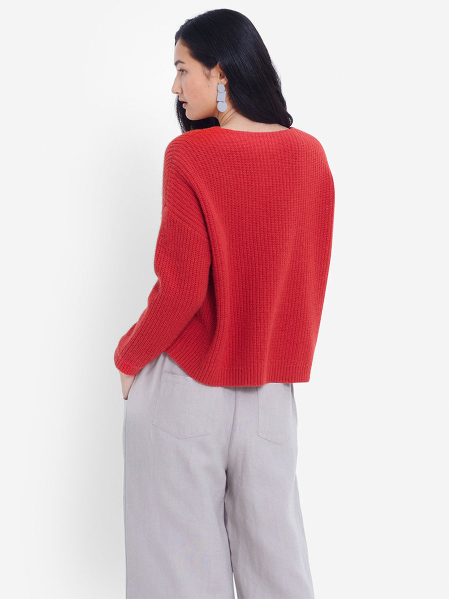 Hennie Sweater - Flame Orange