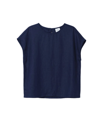 Hersom Shell Top - Navy
