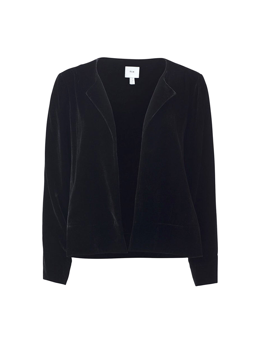 Luxe Velvet Jacket - Black