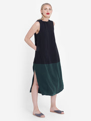 Molger Dress - Forest & Black