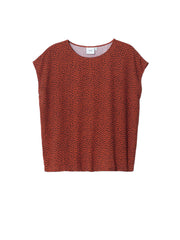Oens Shell Top - Copper & Navy