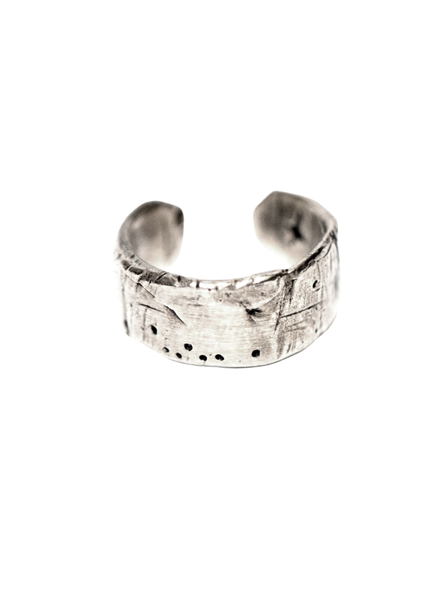 Weathered Adjustable Band - Sterling Silver