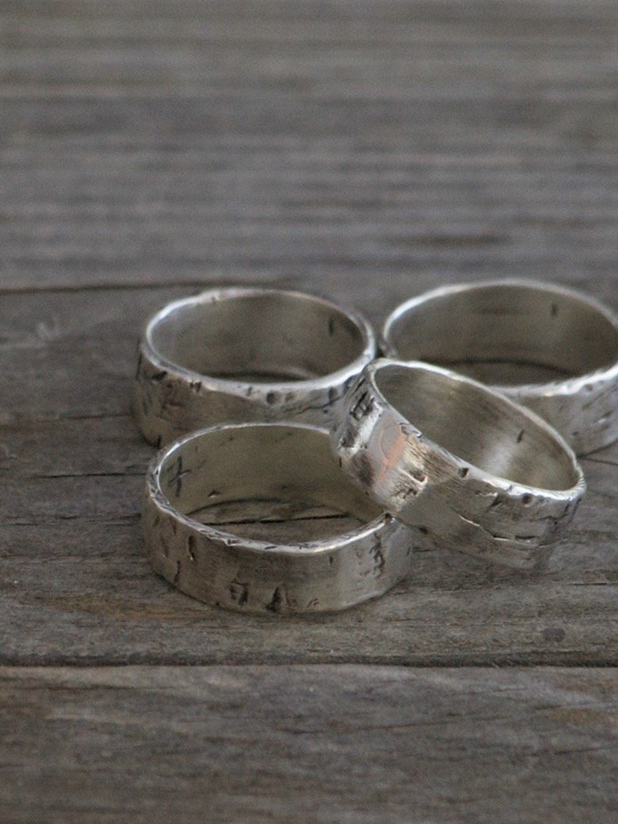 Weathered Band - Sterling Silver