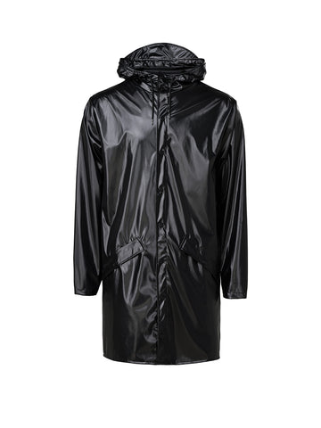 Unisex Long Jacket - Shiny Black