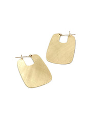 FAO Rectangular Hoops - Brass