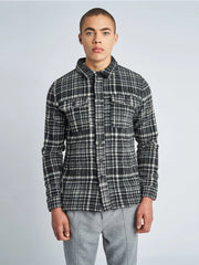 Jaxon Wool Overshirt - Black