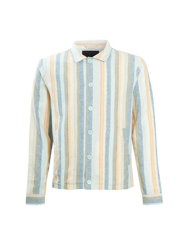 Kuban Jacket - Light Blue Multi Stripe