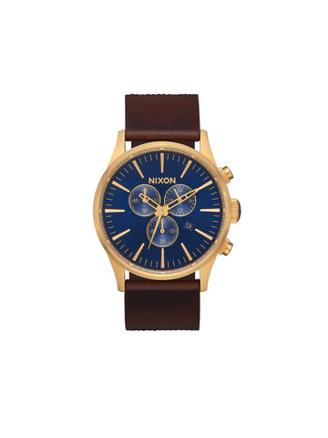 Sentry Chrono Leather - Navy, Brown, & Black Gator
