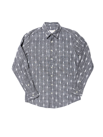 Sandias Long Sleeve Shirt - Grey Ikat
