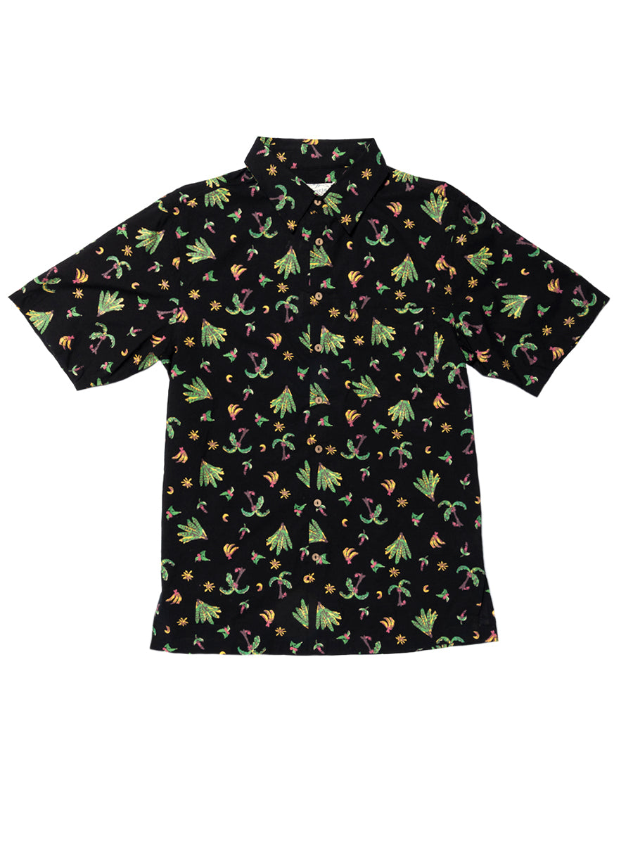 Tally Me Bananas Short Sleeve Shirt - Black & Green