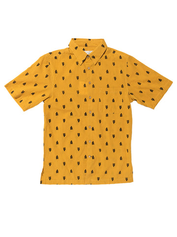 Wandering Meditator Short Sleeve Shirt - Gold & Black