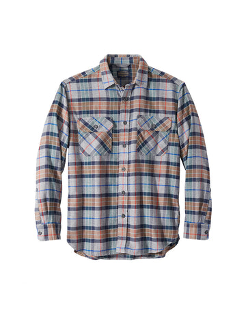Burnside Flannel Shirt - Grey Multi Plaid