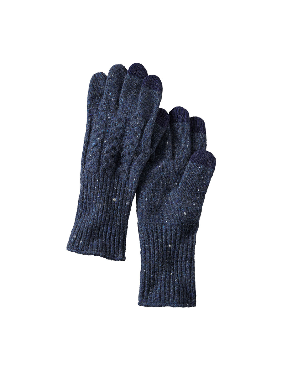 Cable Gloves - Navy